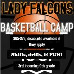 Lady Falcons Basketball Camp: June 5-8
