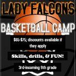 Lady Falcons Basketball Camp: June 5-8