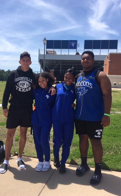 NF Track Athletes at Area Meet