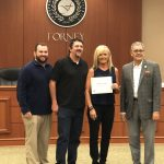 Forney ISD recognizes 2018 North Forney Baseball player, Jordan Carroll
