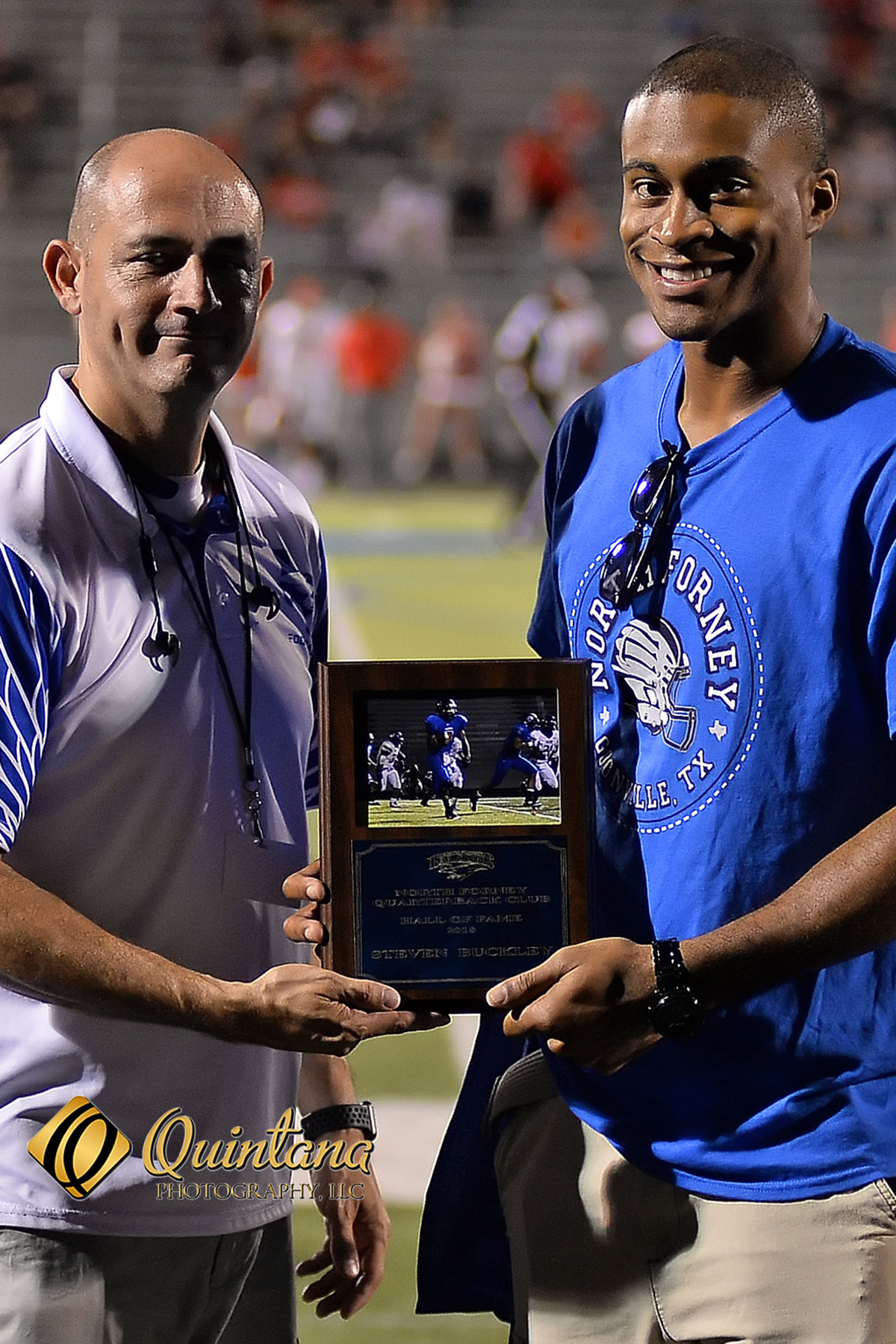 Falcon Alum Buckley Honored at Homecoming Game