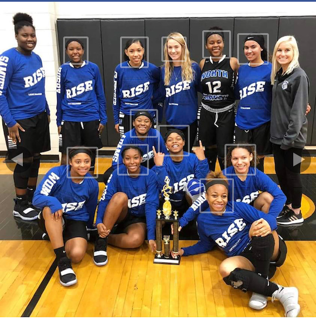 Lady Falcon JV Basketball Takes 1st Place at Royse City Tournament
