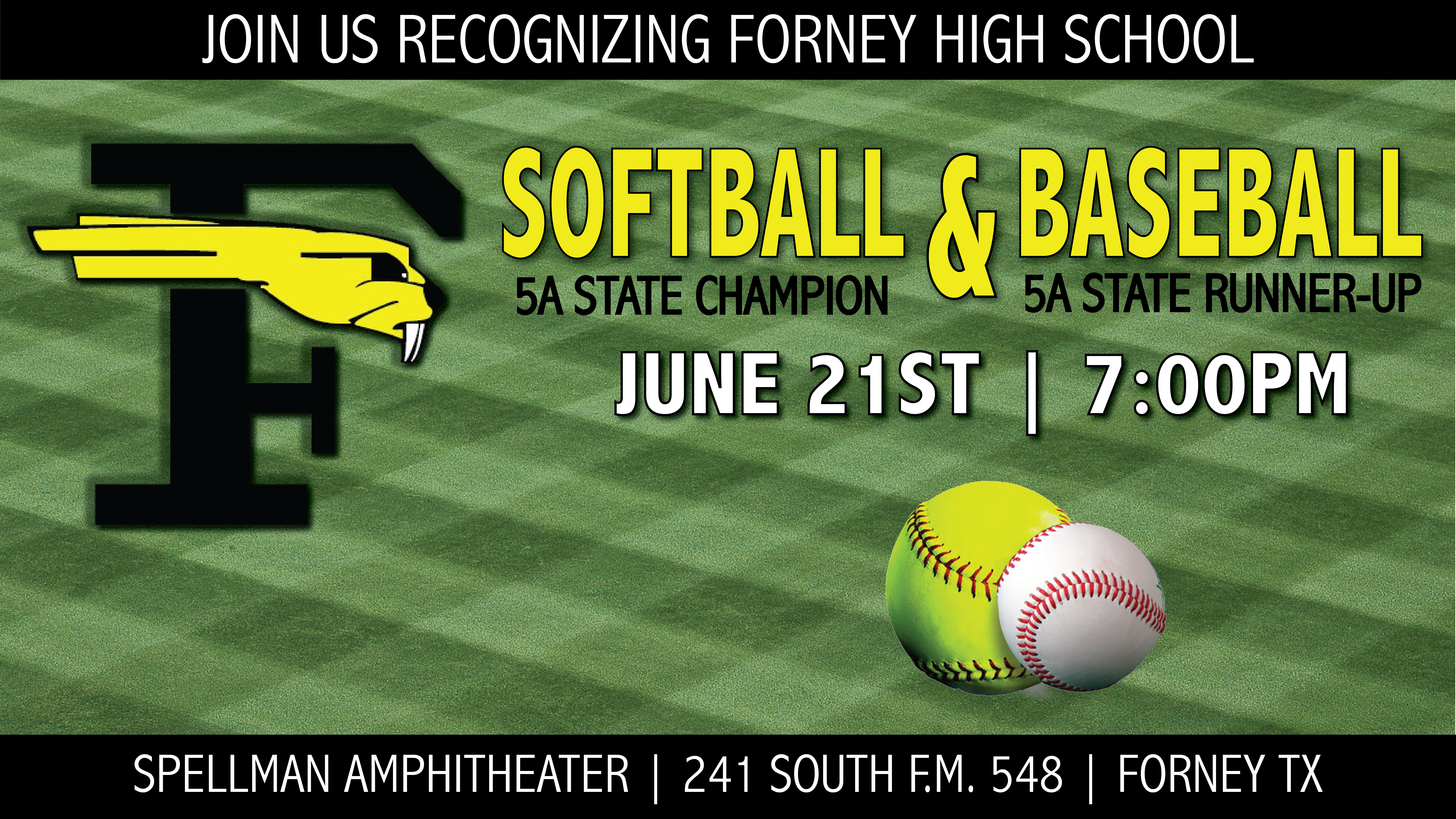 City of Forney to Recognize FHS Softball and Baseball Teams