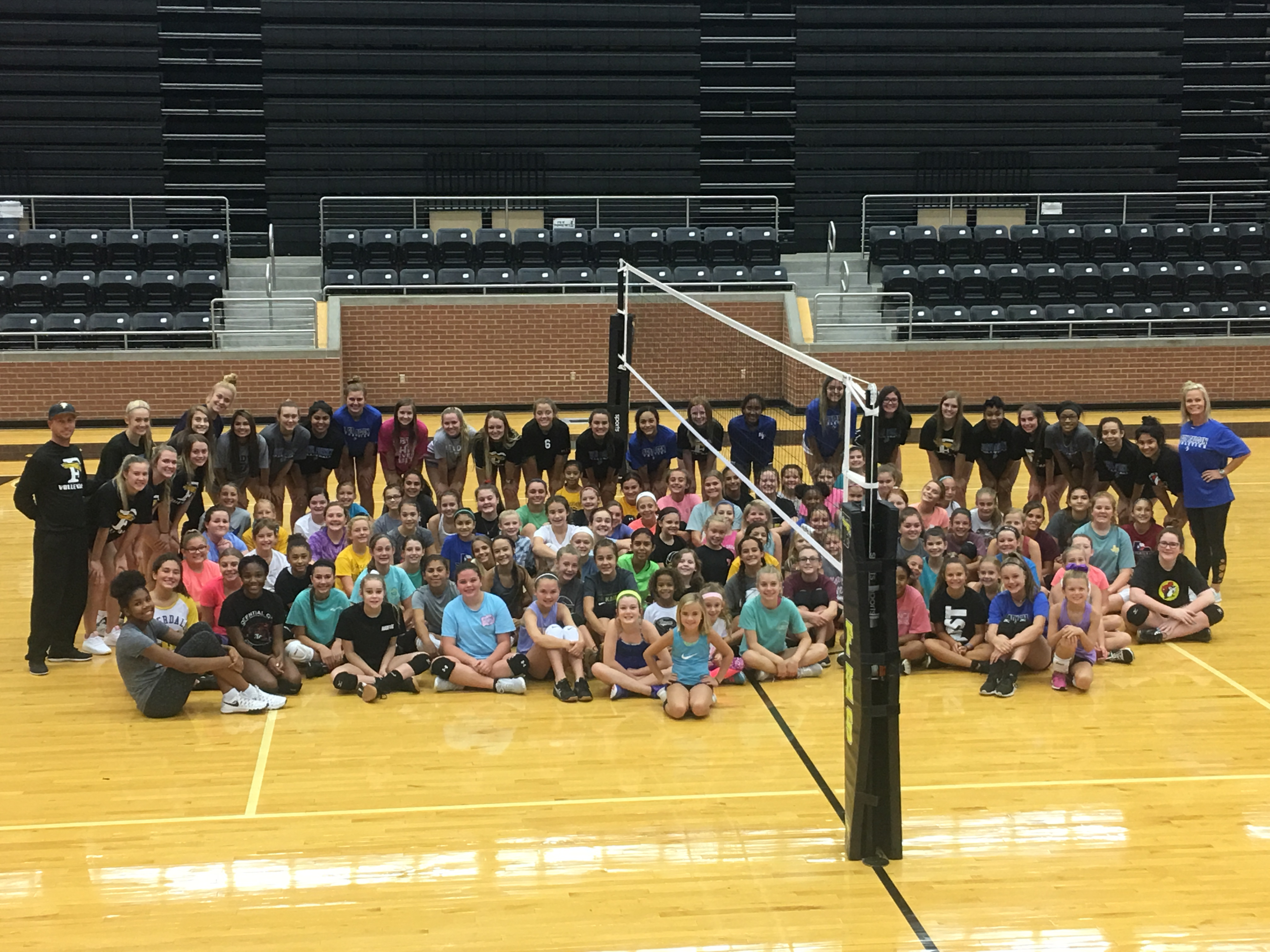 FISD Volleyball Opens LEAD19 Service Projects