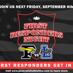 Honoring Our First Responders at the Sept. 6 Varsity Football Game