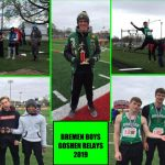 Boys Varsity Track finishes 3rd place at 77th Goshen Relays