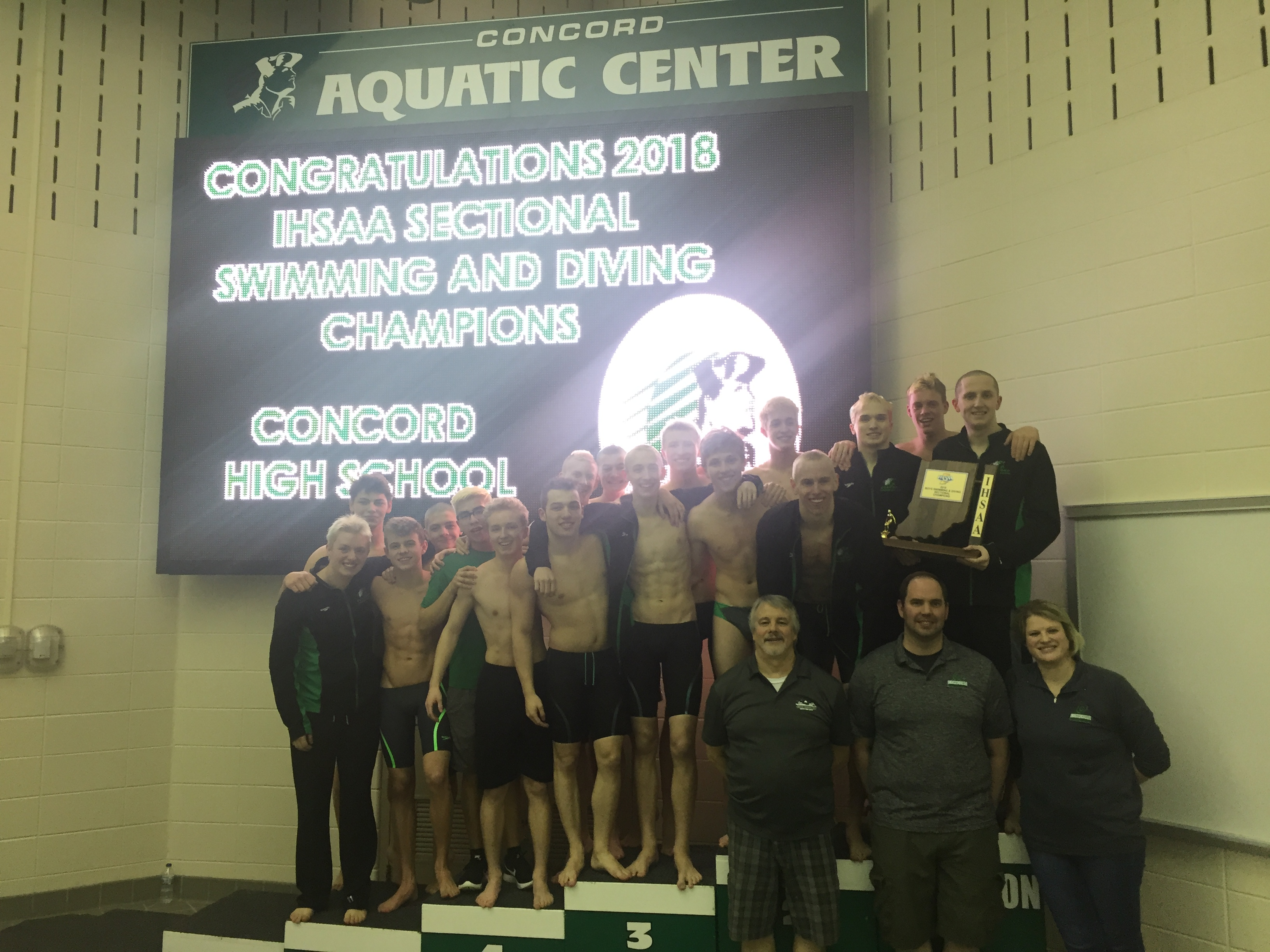 Boys Swimming 2018 Sectional Champions / State Finals Information