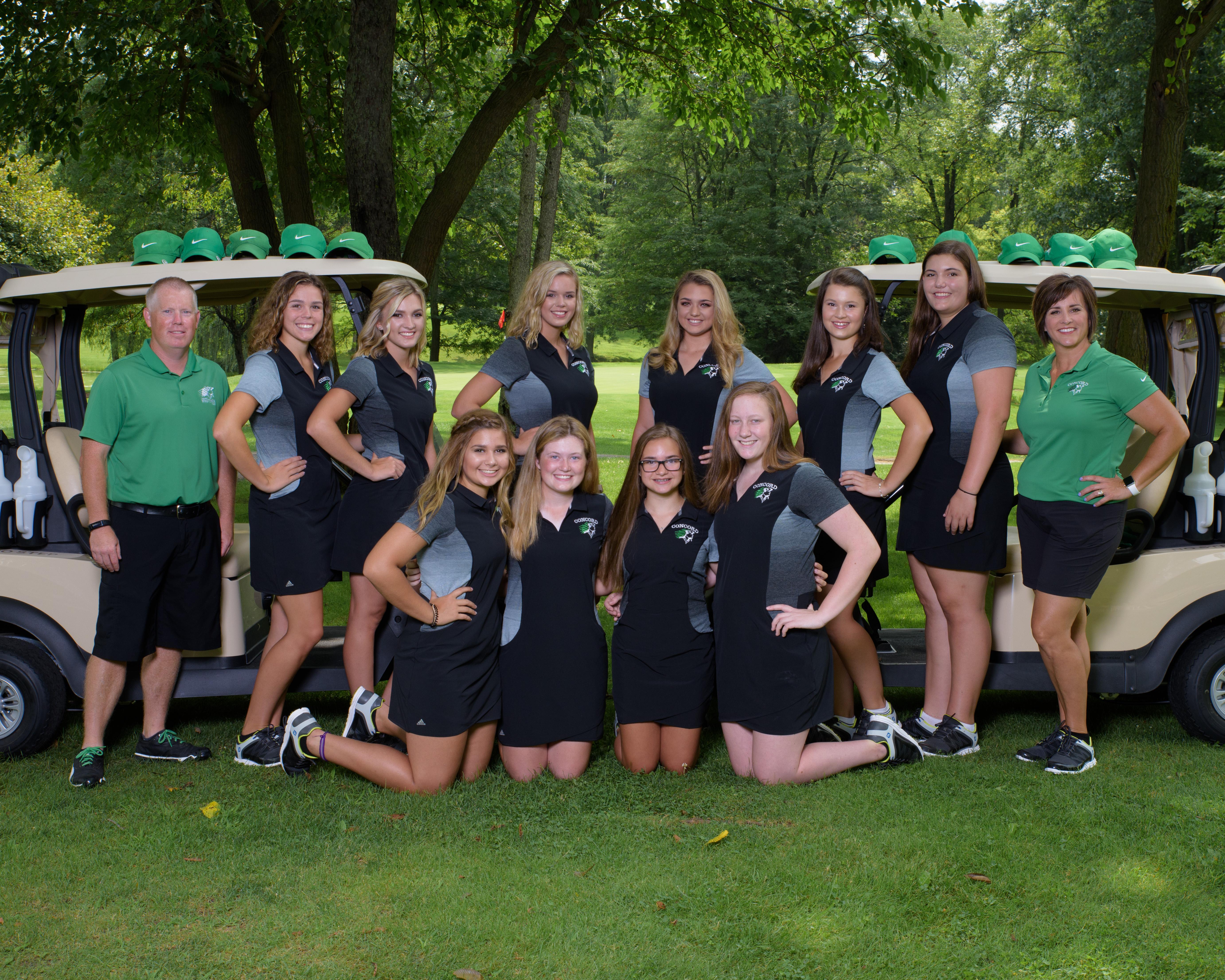 2018 Girls Golf Team Picture