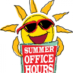 Athletic Office Summer Schedule