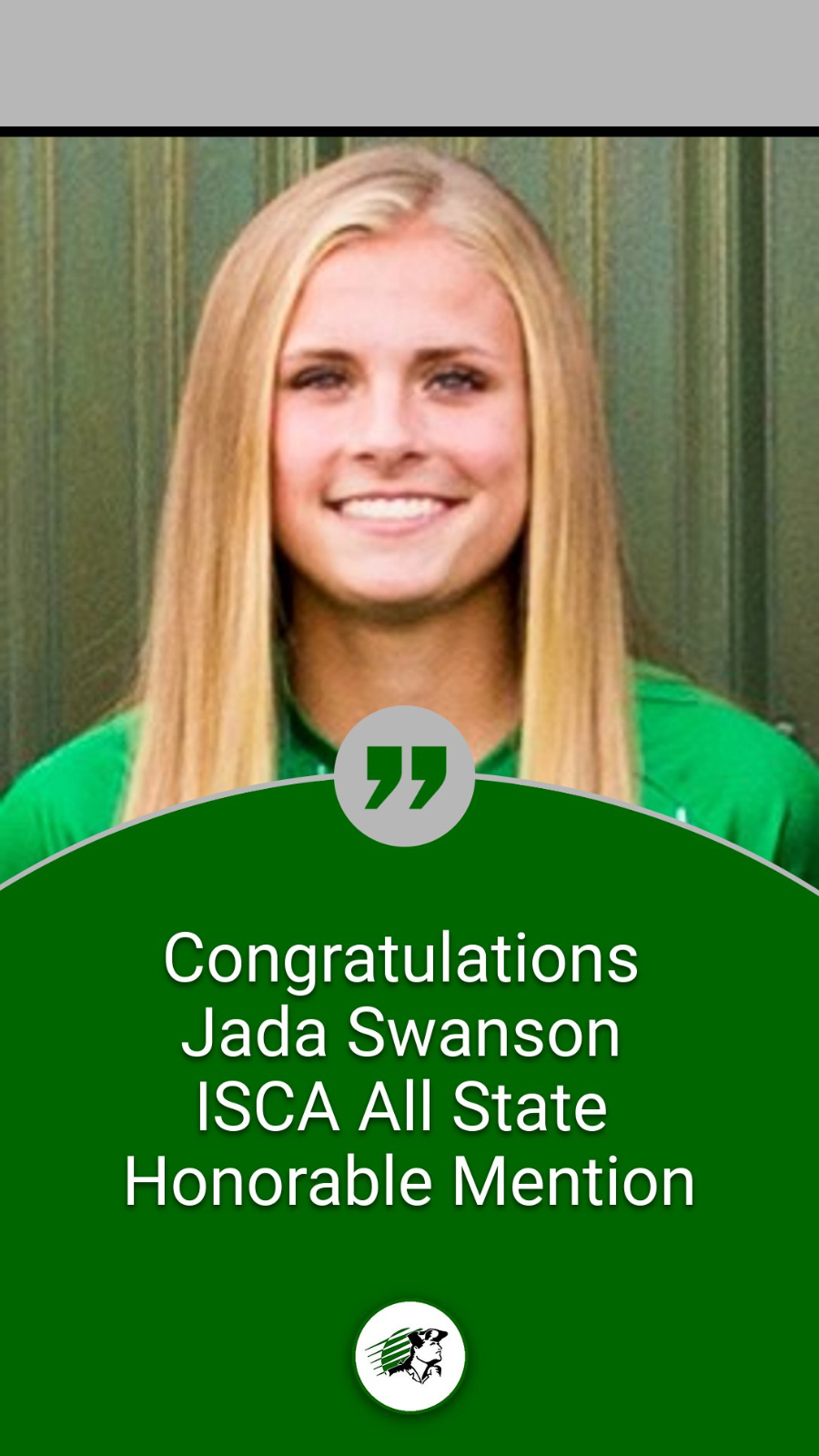 Jada Swanson Named ISCA All State Honorable Mention
