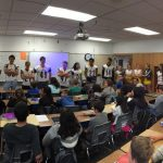 Football and Cheer Visit Feeder Elementary Schools