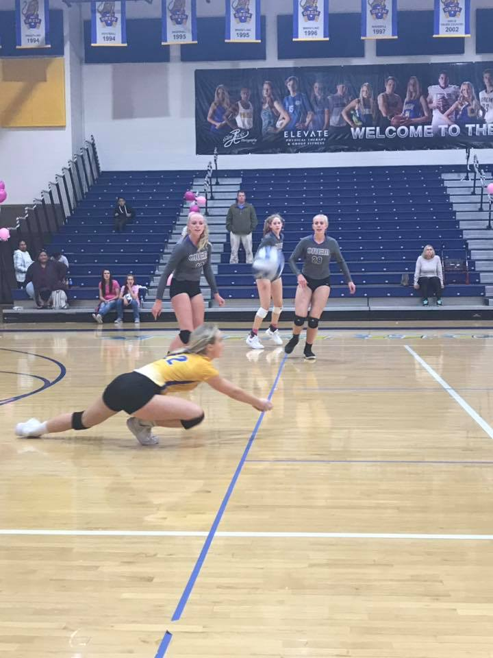 Volleyball Sweep Versus Payson