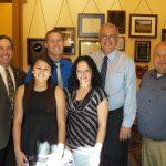 Wrestler Ali Hernandez Receives Award at Ohio State House