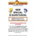 Hot Head Burrito for Athletics