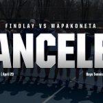 Boys Tennis Match vs. Wapak Canceled