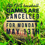 Baseball Cancelled – 5/13/19