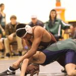 Wrestling Ends League with Win over Miners