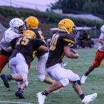 GW Football Scrimmages Selma – Game in Pictures