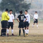 JV BOYS SOCCER vs REEDLEY IN THE FOG!  12-8-18