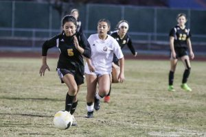 JV Girls Soccer vs Tulare Union 12-12-19