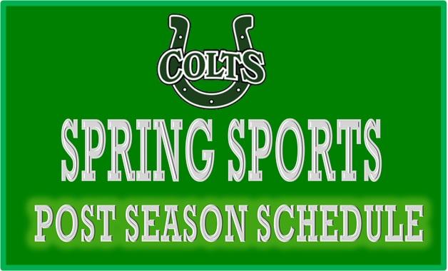 Spring Sports Post Season Schedule