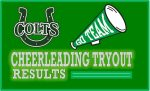Cheerleading Tryout Results