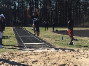 Varsity Track vs DeMatha and Magruder 3/29/17