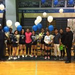 Girls Varsity Volleyball falls to Whitman on Senior Night