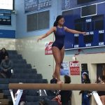 Girls Varsity Gymnastics shows improvement vs B-Cc
