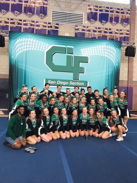 Cheer Earns 2nd place in CIF competition
