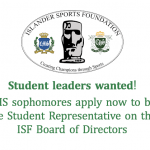 Student Leadership Opportunity with ISF