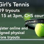 Girl's Tennis Tryouts