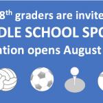 Middle School Sports Registration