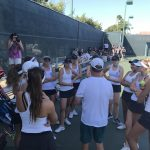 Tennis clinched league title.