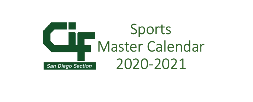 Updated Sports Master Calendar for 2020-2021