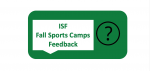 Feedback on Fall Sports Camps