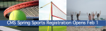 Middle School Spring Sports Registration February 1-22