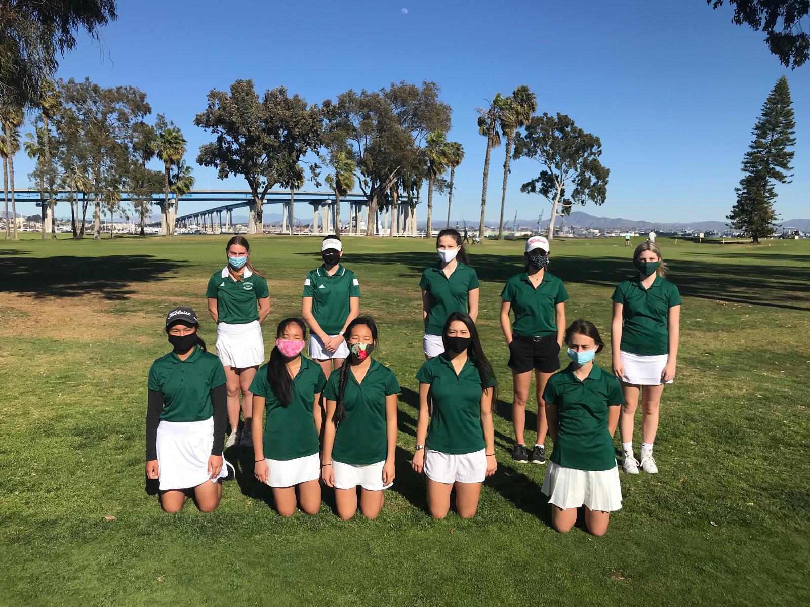 Girls Golf in Action