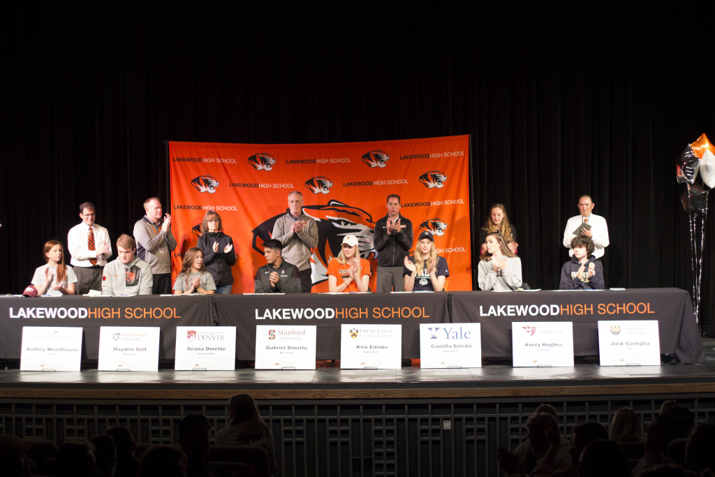 Eight Athletes Sign with Colleges for National Letter of Intent Day