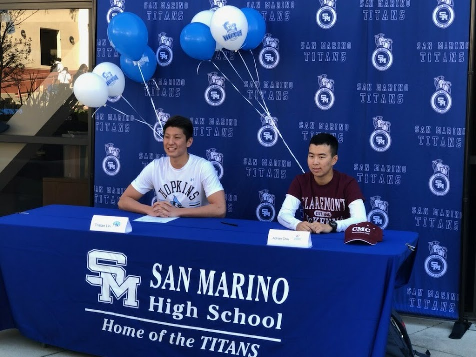 Signing Day: Two San Marino High School Athletes Announce their College choices
