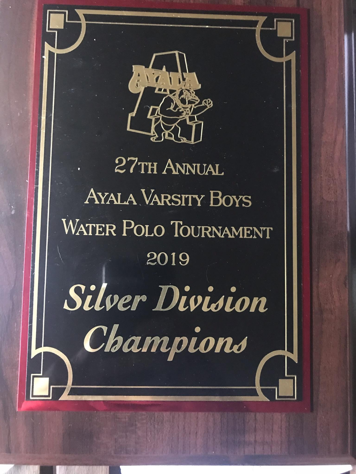 Boys Water Polo wins Silver Division at Ayala Tournament