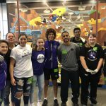 Girls Basketball Volunteers at Second Harvest Food Bank