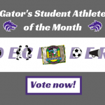 December Spotlight: Vote for our Gator's Student Athlete of the Month