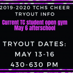 TC Cheer Tryouts