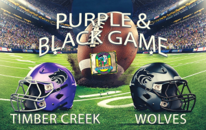 Purple/Black Football Game