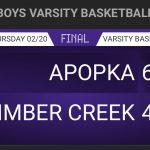 Boys Varsity Basketball falls to Apopka 62 – 44 in Regional Quarterfinal