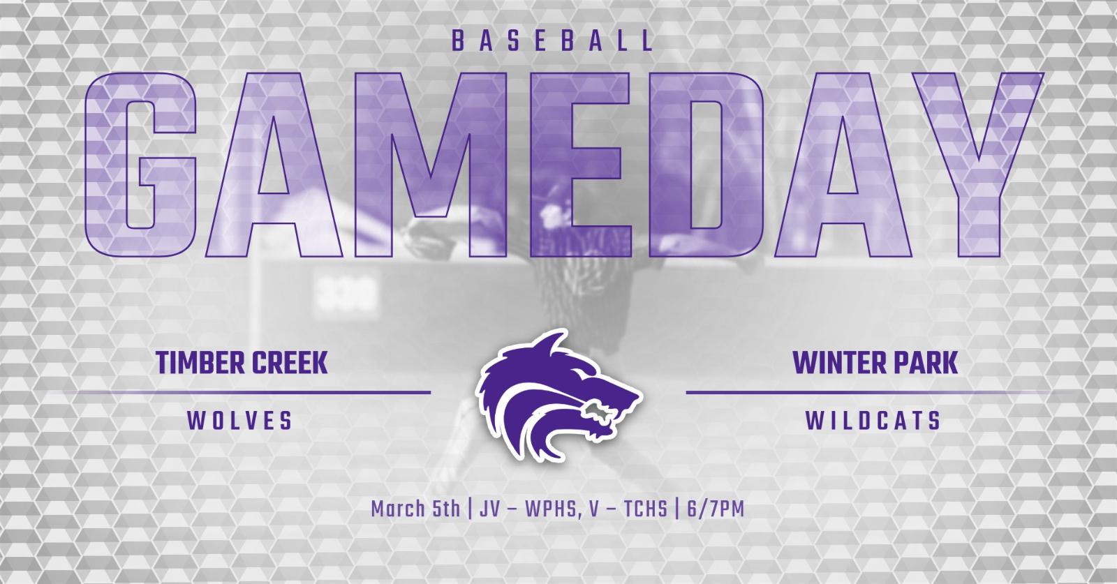 Baseball | GAMEDAY vs Winter Park Wildcats