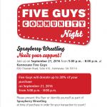 SHS Wrestling Fundraiser @ 5 Guys