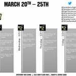 Athletics Schedule for 3/20 – 3/25