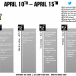 Athletics Schedule for April 10-15!